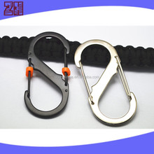 China hot Metal hook with double locks,swivel carabiner hook,fashion carabiner