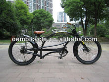 24inch black professional adult chopper style bike