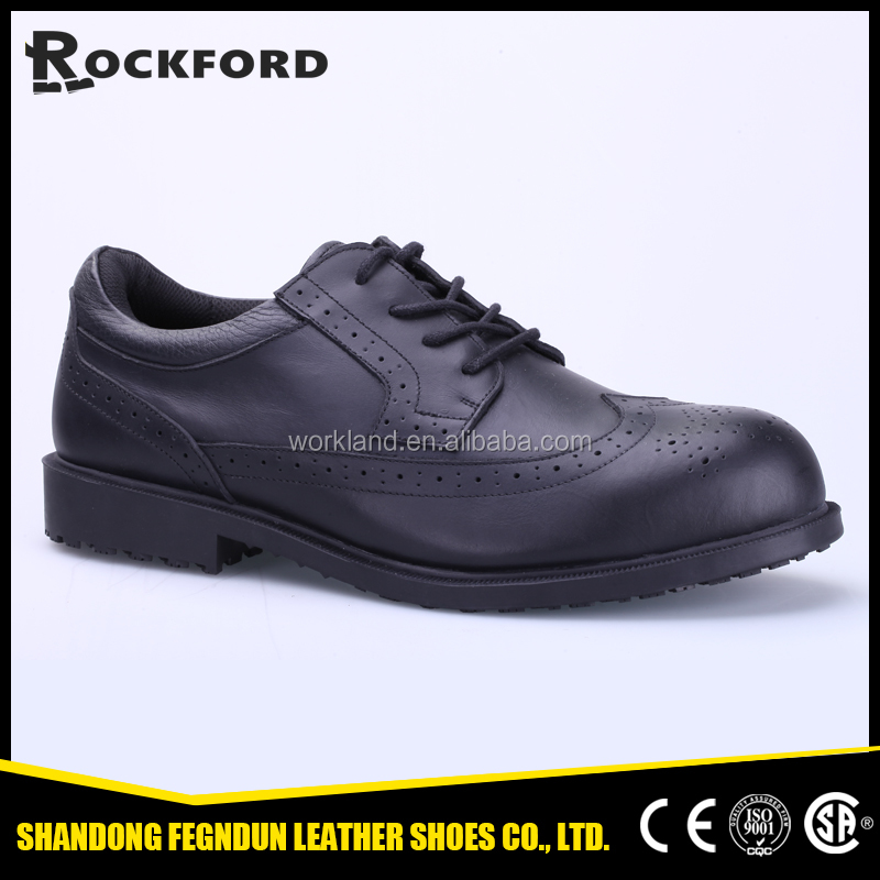 Genuine leather slip resistant office shoes FD3239