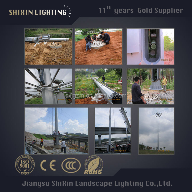 High mast lighting high mast tower/LED high mast Lamp system suppliers