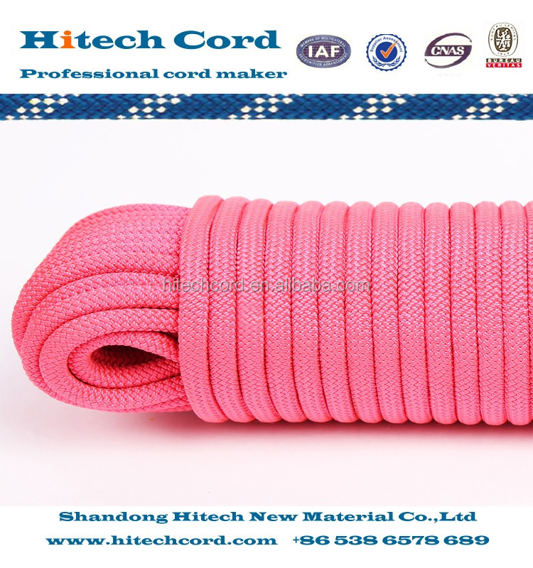 All Purpose Pink color 16 strands Polypropylene Diamond Braid Rope