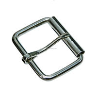 Roller Buckle Square Ring Engraved Logo