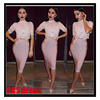 Hottest fashion new bandage dress 90% Rayon women office dress designs