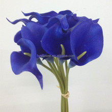 Home Decorating Artificial calla lily Flower dark blue Calla Lily
