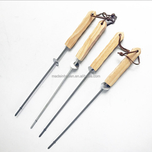 New design good use oak wood handle skewer high quality barbecue stick