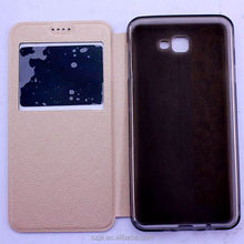 Mobile phone holster for Samsung Galaxy J7 Prime cell phone leg holster for J7 prime With window leather