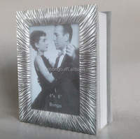 fabric covered photo albums,plated metal frame cover photo album
