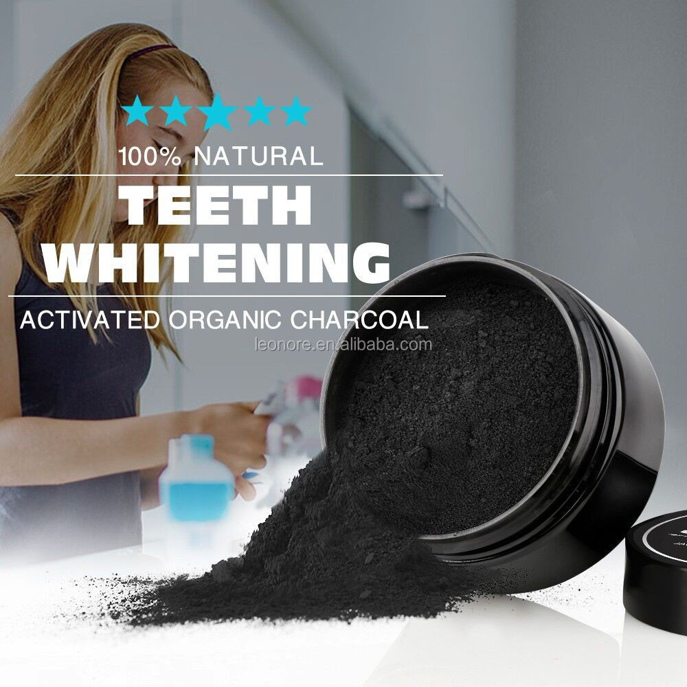 Mint flavor Scent and Activated Coconut Charcoal Teeth Whitening Powder