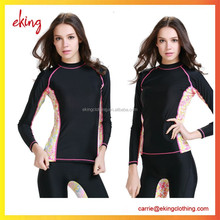 women sport wear polyester spandex dry fit sublimated long sleeve shirt