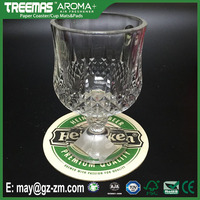 Factory price reusable bar drink mats custom printed beer glass coasters