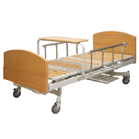 BAM208 manual patient care wooden home bed