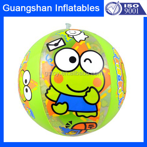 custom cartoon inflatable PVC free promotion beach ball