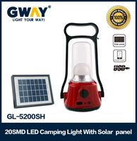 20pcs of 5730SMD LED solar camping lanterns with iphone charge