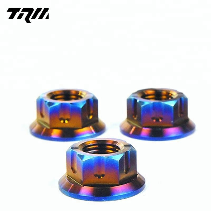 <strong>M12</strong> Din6923 motor Wheel titanium flange Nut