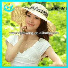 girl plain large brim straw hats cheap &fashion summer paper straw hat