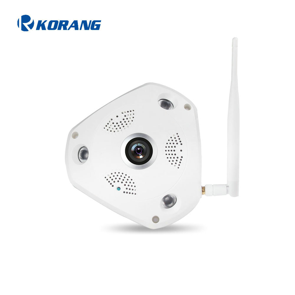 960P HD 1.3 Indoor Wireless Security OEM/ODM Onvif Home Security Alarm System 3D Fisheye LED Infrared Dome IP Camera
