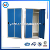 KD structure multi-functional 2 door clothing steel locker/steel clothes storage bench locker