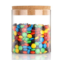 Moisture Proof Transparent Table Glass Candy Container With Tap