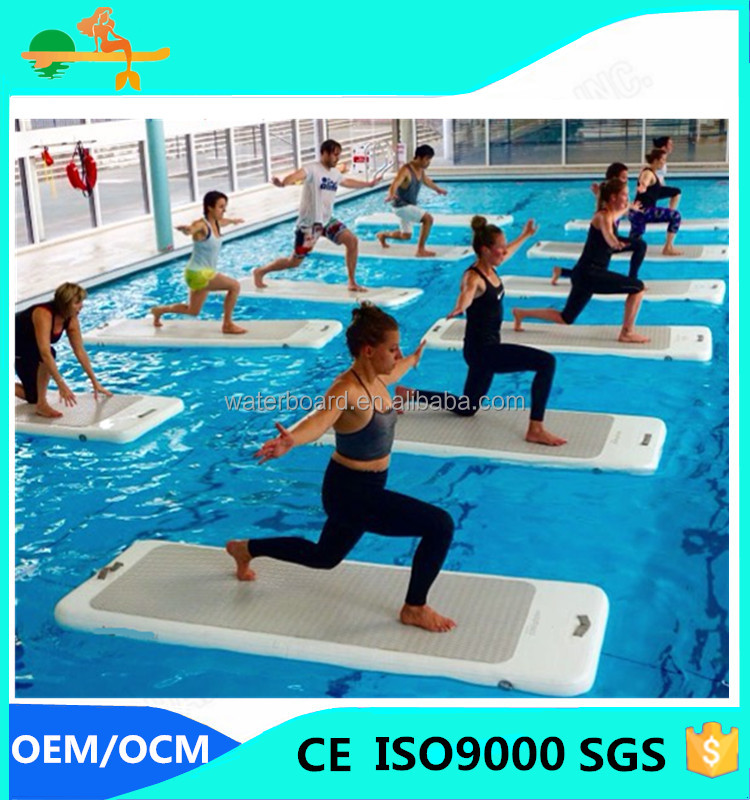 AQUA fitness inflatable water floating Yoga mat in water