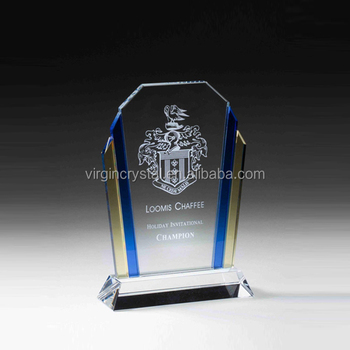 Crystal Glass Shield Plaque Award Corporate gifts