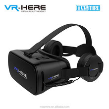 Free sample and dropshipping VR 3d Glasses blue film hot video google vr headset