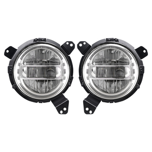 JL LED Headlights 7 Inch Headlight Round DRL Headlamp 60W Head Light with Adapter for Jeep Wrangler JK JL