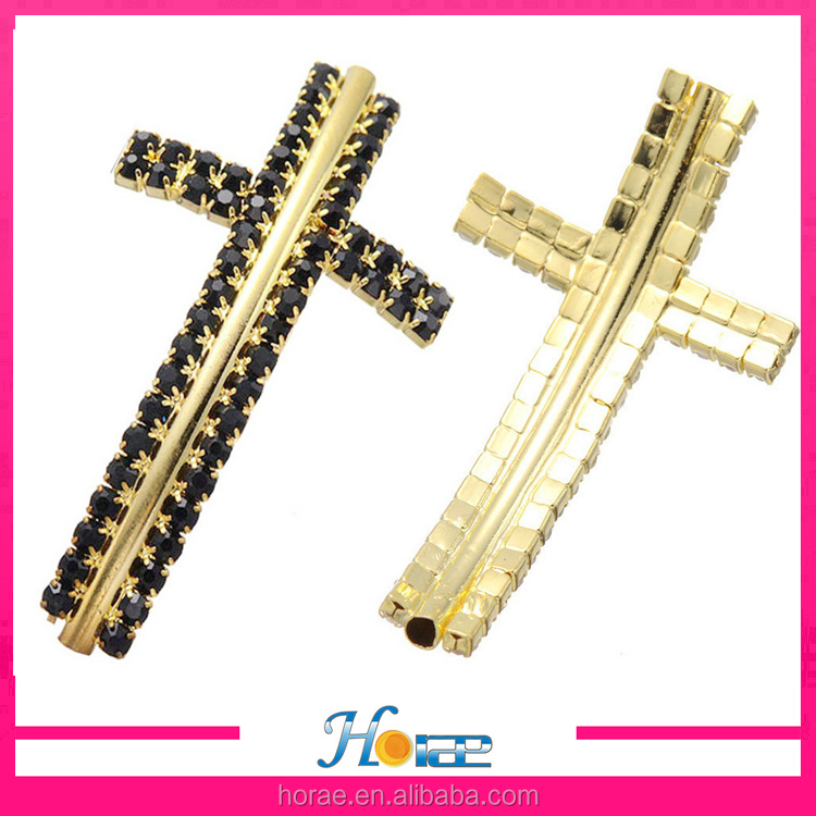49.7*27.7mm wholesale jewelry connector accessories rhinestone cross connector