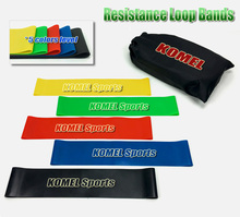 Exercise Resistance Loop Bands- 5 Mini Bands for Stretching, Home Fitness, Pilates and Yoga,