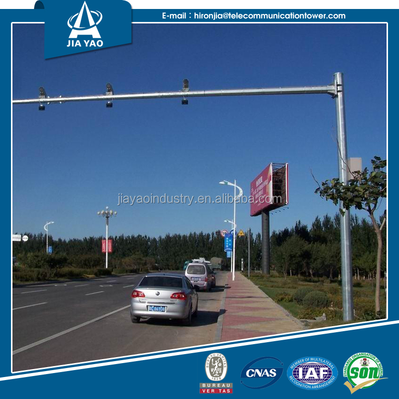 Economic led flashing arrow traffic signs traffic camera pole