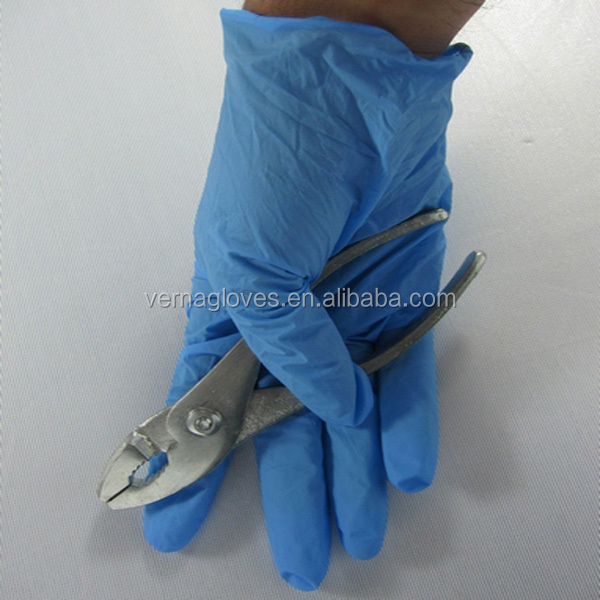 disposable nitrile gloves powder free use industrial production