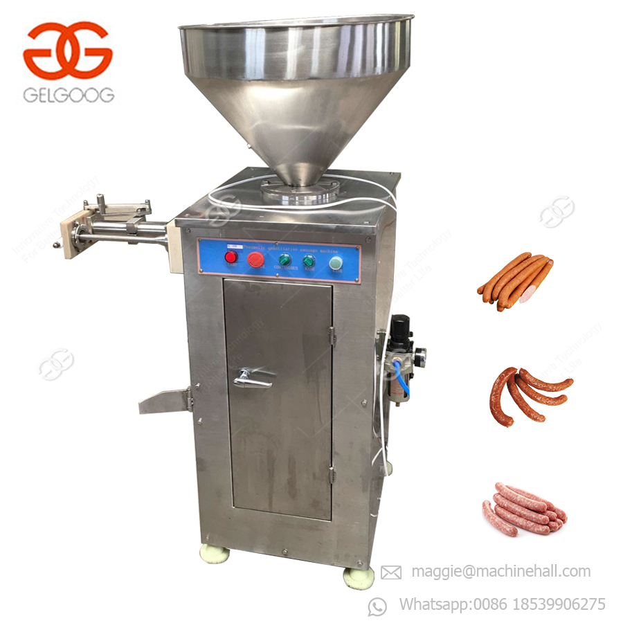 Automatic Industrial Vacuum Vienna Sausage Making Filler Stuffer Commercial Electric Vegetarian Sausage Filling Machine