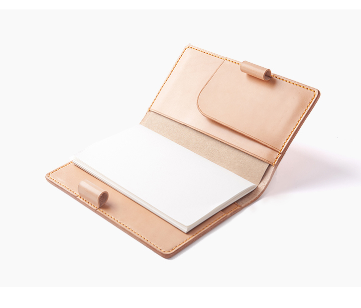 Wholesale hand made genuine leather multifunctional travel organizer wallet diary note book cover