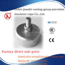 hot dip galvanized line post insulator cap and pin
