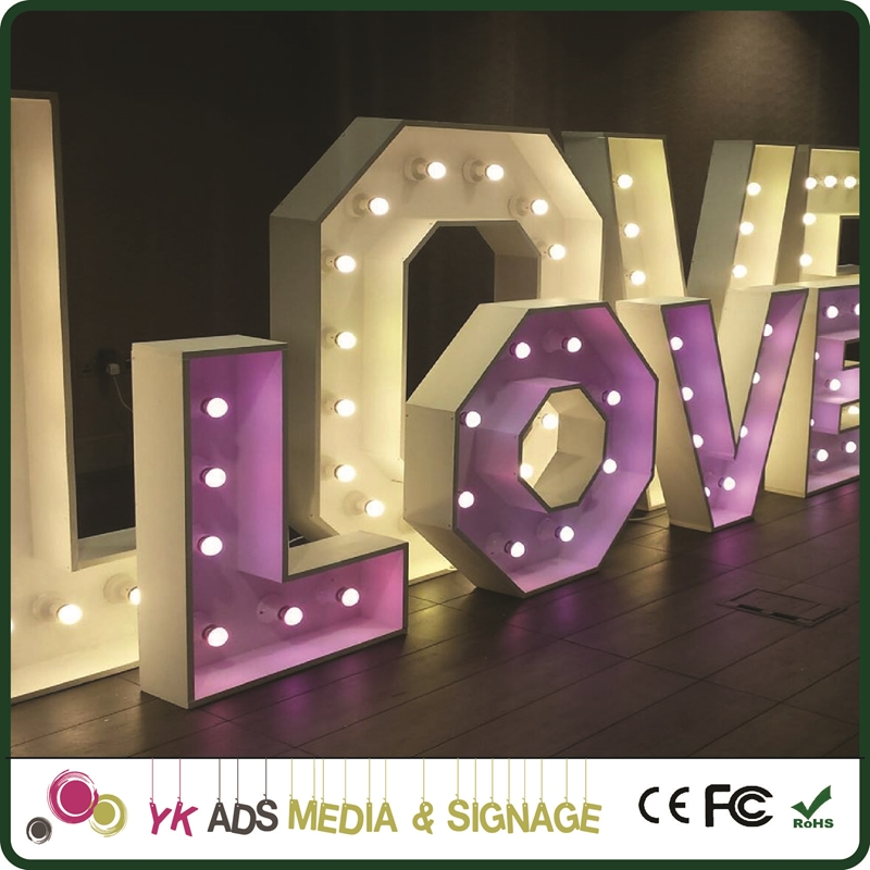mr&mrs marquee letters Customized Size Acrylic Led Letters