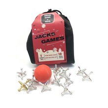 2019 new toys 3.2mm large ball high quality Christmas gifts metal classic jacks <strong>game</strong>