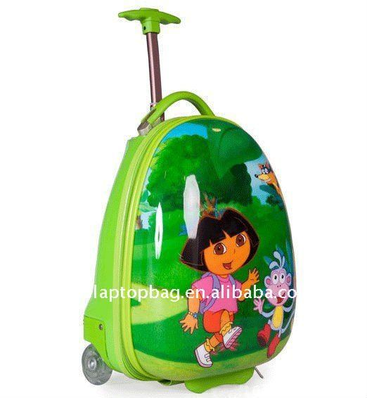 16 inch character egg shell hard case children teens school trolley bags for girls