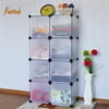 FH-AL0030-8 Best selling home use Free standing white cube plastic wardrobe