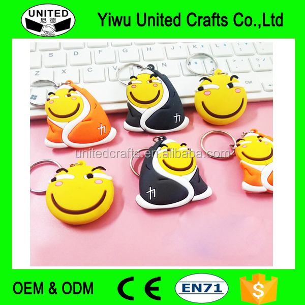 Creative 3D Cartoon Keychain Soft PVC Rubber Keyrings Fashion Bag Pendant Car Key Chain