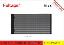 Hot sale P7,P15.625,Led Curtain & flexible Display Screen F-C-P7 led curtain