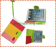 New design l fashion contrast color leather case for Ipad air /Ipad 5