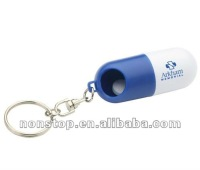 Personalised Twist a Pill Tube Keyring