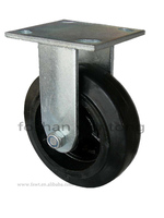 Rotate Roller Heavy Duty Trolley Wheel 6 Inch Solid Rubber Wheel