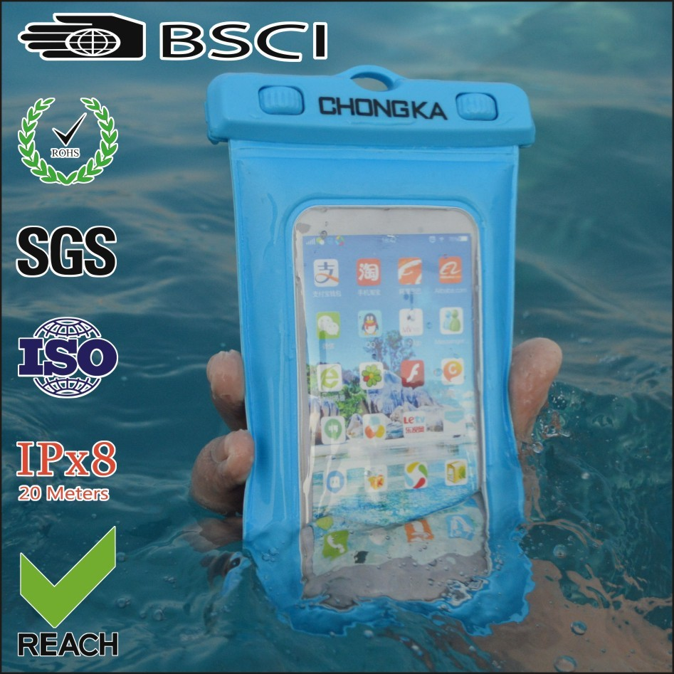 Durable pvc phone waterproof case for iphone 4s