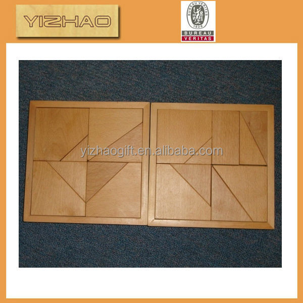 China supplier YZ-tb0001 high quality beech wood tangram