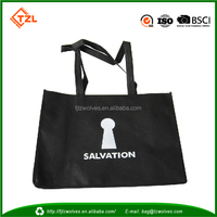 BLACK Non Woven Resuable Shopping Bag Laminated with Printing