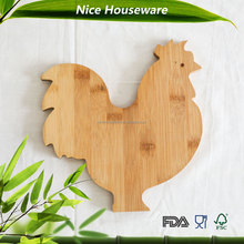 cock shape bamboo cutting board wholesale