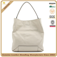 Custom high quality leather shoulder bag, lady leather handbags, women genuine leather handbag wholesale made in Guangzhou