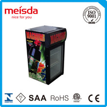 cold drink display cooler store metal fridge without freezer