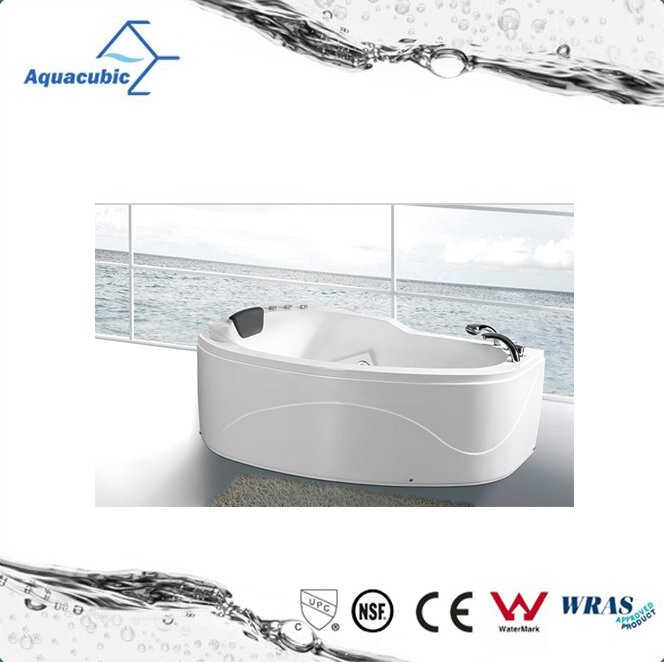 Simple design high quality massage bathtub with seat
