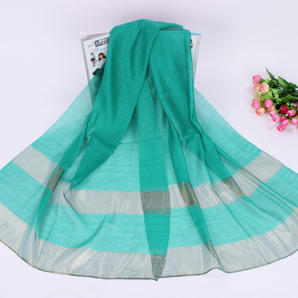 Cheap Long Fashion Lurex Silk Scarves Woman